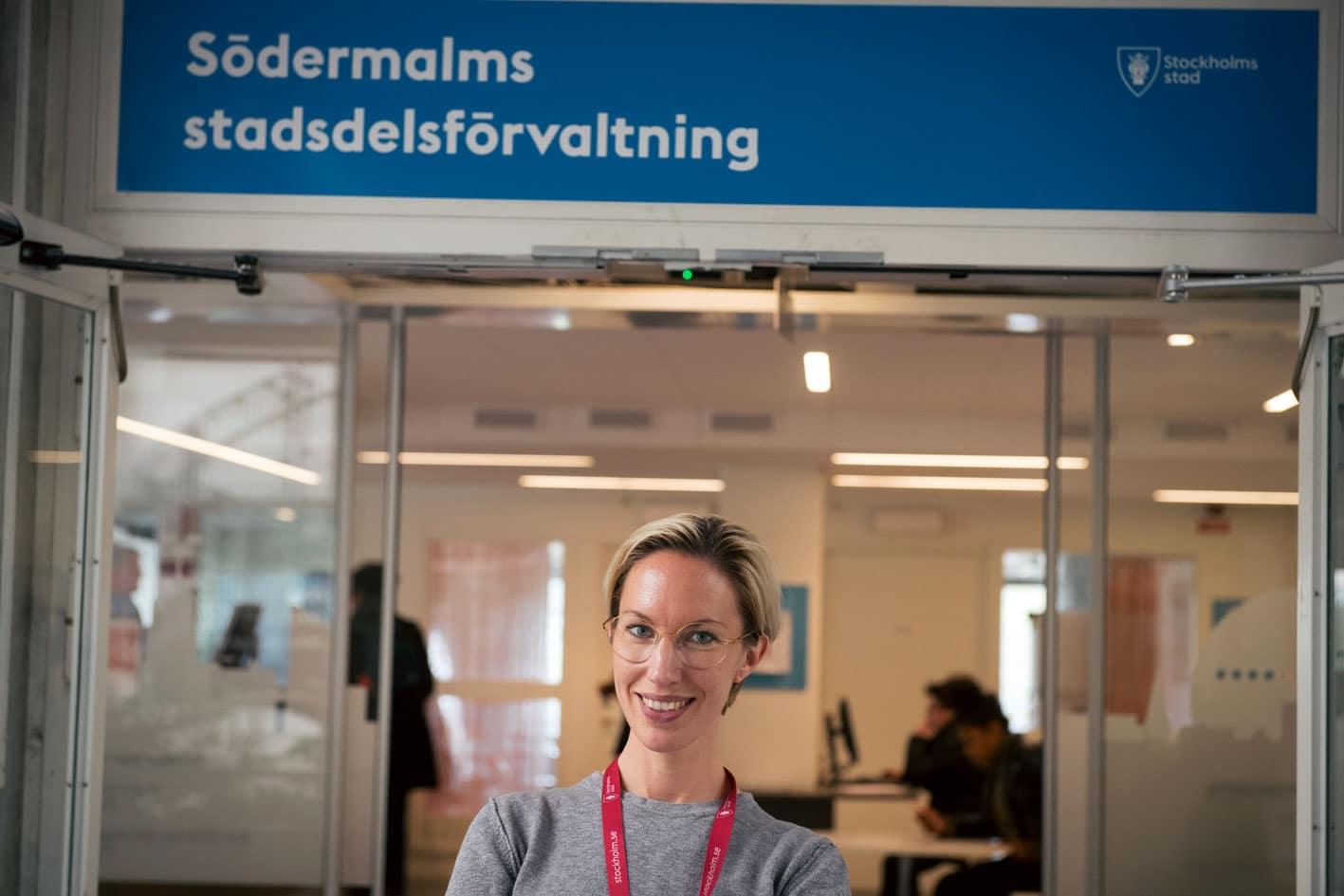 Katarina Samuelsson på jobbet